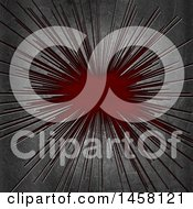 Clipart Of A Metal Overlay And Red Royalty Free Illustration