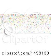 Colorful Confetti Party Planner Or Event Social Media Cover Banner Design Element