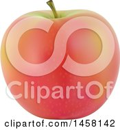Clipart Of A 3d Apple Royalty Free Vector Illustration by cidepix