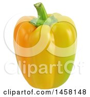 3d Yellow Bell Pepper