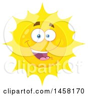 Clipart Of A Happy Sun Mascot Royalty Free Vector Illustration