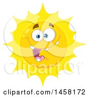 Clipart Of A Goofy Sun Mascot Royalty Free Vector Illustration