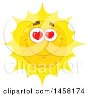 Clipart Of A Loving Sun Mascot Royalty Free Vector Illustration