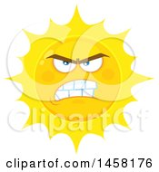 Clipart Of A Mean Sun Mascot Royalty Free Vector Illustration