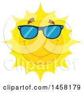 Clipart Of A Happy Sun Mascot Wearing Shades Royalty Free Vector Illustration