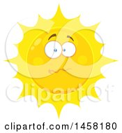 Clipart Of A Stressed Sun Mascot Royalty Free Vector Illustration