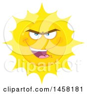 Clipart Of A Bully Sun Mascot Royalty Free Vector Illustration