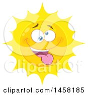 Clipart Of A Silly Sun Mascot Royalty Free Vector Illustration