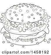 Black And White Cheeseburger