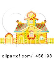 Clipart Of A Fairy Tale Log Cabin Royalty Free Vector Illustration