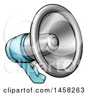 Clipart Of A Cartoon Megaphone Royalty Free Vector Illustration by AtStockIllustration