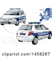 Serbian Police Car With A Map And Euro Police Text