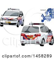 Holland Police Car With A Map And Euro Police Text