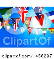 Poster, Art Print Of Background Of Bunting Flag Banners Against Blue