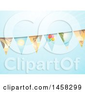 Bunting Banner With Summer Scene Flags