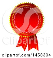 Premium Ribbon Quality Badge On A White Background