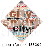 Clipart Of A Smart City Diamond Word Cloud On A White Background Royalty Free Illustration by MacX