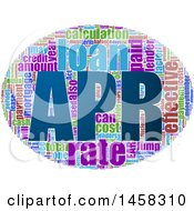 Poster, Art Print Of Apr Word Cloud Oval On A White Background