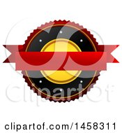 Clipart Of A Blank Badge On A White Background Royalty Free Illustration