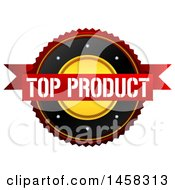 Top Product Quality Badge On A White Background