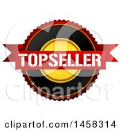 Clipart Of A Top Seller Quality Badge On A White Background Royalty Free Illustration by MacX