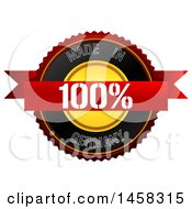 Clipart Of A Made In Germany Badge On A White Background Royalty Free Illustration by MacX