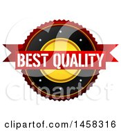Clipart Of A Best Quality Badge On A White Background Royalty Free Illustration by MacX