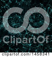 Clipart Of A Digital Network Connections Background Royalty Free Illustration