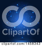 May 23rd, 2017: Clipart Of A Blue Glowing Background With Connections Royalty Free Vector Illustration by KJ Pargeter