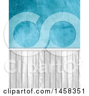 Clipart Of A Distressed Blue Wall With Panels Royalty Free Illustration