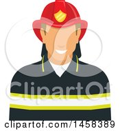 Clipart Of A Faceless Fireman Avatar Royalty Free Vector Illustration