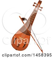 Clipart Of A Instrument Rebec Royalty Free Vector Illustration