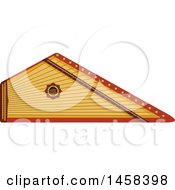 Clipart Of A Instrument Psaltery Royalty Free Vector Illustration