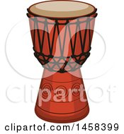 Clipart Of A Drum Instrument Royalty Free Vector Illustration