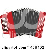 Clipart Of A Instrument Accordian Royalty Free Vector Illustration