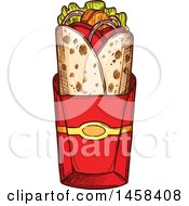 Clipart Of A Wrap In Sketched Style Royalty Free Vector Illustration