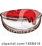 Clipart Of A Side Of Ketchup In Sketched Style Royalty Free Vector Illustration by Vector Tradition SM