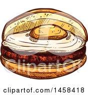 Breakfast Sandwich In Sketched Style