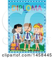 School Diploma Design With Children