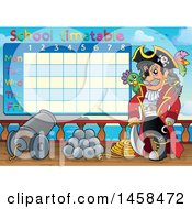 May 24th, 2017: Clipart Of A School Timetable Of A Pirate Captain On Deck Royalty Free Vector Illustration by visekart