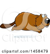 May 24th, 2017: Clipart Of A Happy Beaver Running Royalty Free Vector Illustration by Cory Thoman