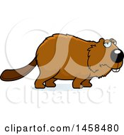May 24th, 2017: Clipart Of A Sad Or Depressed Beaver Royalty Free Vector Illustration by Cory Thoman