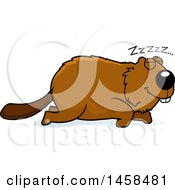 May 24th, 2017: Clipart Of A Sleeping Beaver Royalty Free Vector Illustration by Cory Thoman