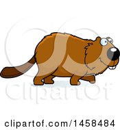 Clipart Of A Happy Beaver Walking Royalty Free Vector Illustration