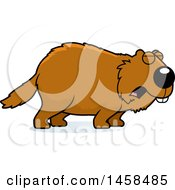Clipart Of A Howling Woodchuck Groundhog Whistlepig Royalty Free Vector Illustration