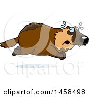 Clipart Of A Scared Wolverine Running Royalty Free Vector Illustration by Cory Thoman