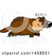 Clipart Of A Sleeping Wolverine Royalty Free Vector Illustration by Cory Thoman