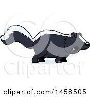 Clipart Of A Howling Skunk Royalty Free Vector Illustration