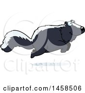 Clipart Of A Happy Skunk Jumping Royalty Free Vector Illustration