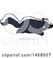 Clipart Of A Mad Skunk Running Royalty Free Vector Illustration